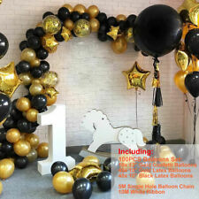 100pcs Black Gold Balloons+ Arch Kit Birthday Wedding Mother's Day Party Decor