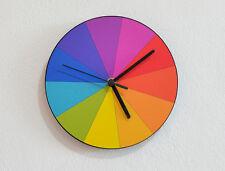 Wheel of Colors - Rainbow Pattern - CMYK RGB Designers Art - Wall Clock