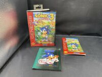 SEGA GENESIS RAPLACEMENT CASE & MANUAL ONLY + POSTER SONIC THE HEDGEHOG 3