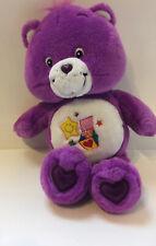"Care Bears Surprise Bear Purple 10"" Plush 2004"