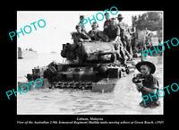 OLD LARGE HISTORIC PHOTO LABUAN MALAYSIA, AUSTRALIAN TROOPS LANDING c1945 1