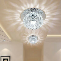 Pendant Lamp Chandelier Modern Crystal Flush Mount LED Ceiling Light Fixture 5W