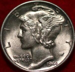 Uncirculated 1944-D Denver Mint Silver Mercury Dime
