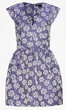 French Connection UK 10 EU 36 Cobalt Lilac Fantasy V Neck Purple Floral Dress