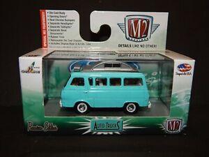 1965 Ford Econoline Camper Van Aqua Blue Pop Top M2 Machines Spring Blowout MIP