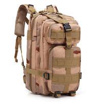 30L 3P Outdoor Military Rucksacks Tactical Backpack Camp Hiking Bag  Sand Color