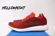 ADIDAS SWIFT RUN PK SZ 14 MYSTERY RED WHITE PRIMEKNIT RUNNING SHOE CG4117