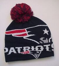 "New England Patriots ""Colossal"" Adult Knit Pom-Top Cap Authentic! New Era / NFL"