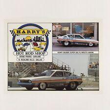Vintage Henry Grubbs Harrys Hot Rod NHRA Handout Postcard Super Gas 1980s Rare