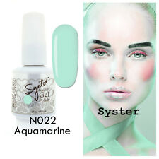SYSTER 15ml Nail Art Soak Off Color UV Lamp Gel Polish N022 - Aquamarine