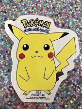 "New Listing�� Old 1999 Pikachu Pokemon Sticker Nintendo 4"" x 4.5"" Laptop Bumper Scooter �"