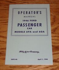 1946 Ford Passsenger Car Model 69A and 6GA Owners Operators Manual 46