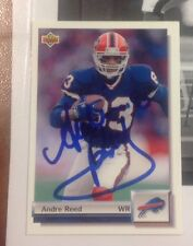 ANDRE REED 1992 Upper Deck AUTOGRAPHED SIGNED AUTO FOOTBALL CARD 366 BILLS HOF