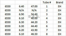 VACUUM TUBES - 6550C - RUSSIAN ELECTRO HARMONIX (EH) - TESTED!  GUARANTEED!