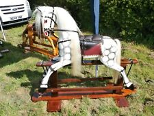 VERY LARGE WOODEN VICTORIAN STYLE ROCKING HORSE