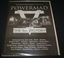 POWERMAD 2001 5TH & FINAL POWER METAL FESTIVAL CONCERT PROGRAM MANILLA ROAD ETC