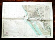 1972 Soundings Map KAO-HSIUNG KANG Taiwan West Coast 30x42""