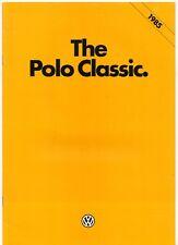 Volkswagen Polo Classic Saloon 1984-85 UK Market Sales Brochure GL Formel E C