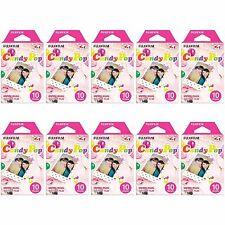 10 Packs 100 Photos Candy Pop FujiFilm Fuji Instax Mini Film Polaroid 7S 8 Sp-1