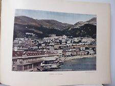 Monaco : Gravure 19° in folio couleur /LA CONDAMINE