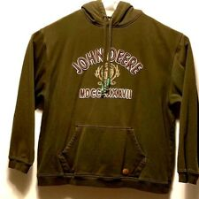 JOHN DEERE MEN'S HOODIE PULLOVER SIZE XL GREEN AWESOME