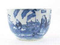Chinesisches Porzellan blau weiß Schale Jian Ding Guangdong Wachsmarke 18/19 Jhd