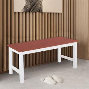 Dining Bench Long Seat Chairs Pine Wood Lounge Stool Home Hallway Display Shelf