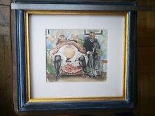 Aquarell Akt im Stil von Henri de Toulouse Lautrec, Erbnachlass, Holzrahmen