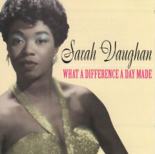 Sarah Vaughan-what a Difference a Day MADE/Nostalgia Records CD 1998 NUOVO