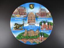 Heidelberg Souvenir Teller Germany,Wandteller Zierteller Polyresin,19,5cm,NEU