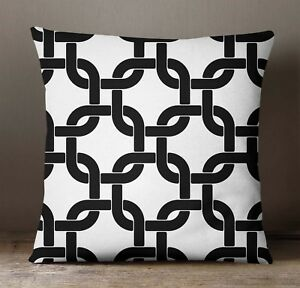 S4Sassy Black Pillow Cover Indian Cushion Case Geometric Sofa Pillowcase Decor