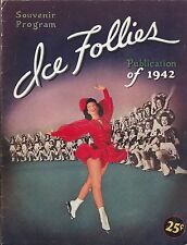1942 Ice Follies Program  Ice Skating  Figure Skating  Free Shipping in the USA