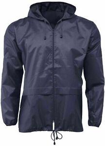 Unisex Rain Jacket Cagoul Kagool Pac A Mac Showerproof Hood Coat Camp Festival