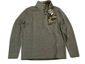 UNDER ARMOUR MEN'S LARGE COLDGEAR BARREN CAMO HENLEY2.0 1/4 ZIP FLEECE NWT