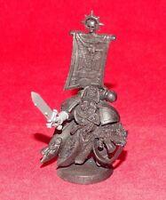 Warhammer 40k Space Marine Captain With Powersword Plastic Primed Black