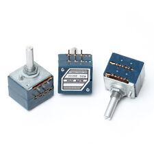 Japan ALPS RK27 Volume Log Potentiometer Dual Audio 2-gang 10K 20K 50K 100K 250K