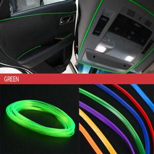 5M Car Interior Door Panel Edge Line Molding Trim Strip Insert Decorate Green AC