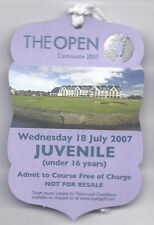 2007 British Open Ticket Wednesday July 18th 4th Practice round Pádraig Harringt