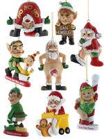 Bad Santa Hanging Decorations Funny Christmas Tree Xmas Bah Humbug Naughty Gift