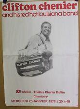 Affiche Originale 1978 ✤ CLIFTON CHENIER & his Red Hot Louisiana Band