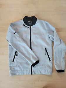 PRISTINE Cond. Nike NSW Sportswear Tech Pack Grid Bomber Jacket Platinum-Mens S