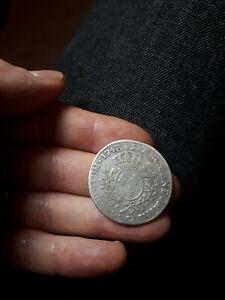 Piece monnaie france Louis XV demi ecu au bandeau argent 1748 W Lilles
