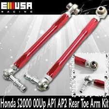2000-2009 Honda S2000  S2K Ap1 Ap2 Rear Toe Arm Kit Adjustable RED
