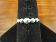 Bead Graduated Look Band Sterling Silver 925 Ring Size 7 1/2