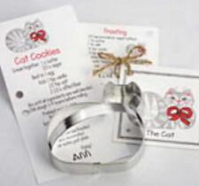 New listing Sale! Ann Clark Cat Tin Plated Steel Cookie Cutter W/Recipe Card Usa
