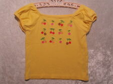 "Gymboree ""Cherry Baby"" Yellow Cherry Rhinestone Top, 5"
