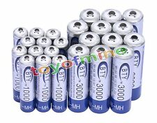 12AA+12AAA 1000mAh 3000mAh 1.2V NI-MH rechargeable battery CELL/RC MP3 2A 3A BTY