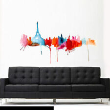 Full Color Wall Decal Sticker Cute Paris Skyline Landscape Eiffel Tower Col610