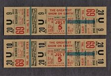 2 FULL CIRCUS TICKETS RINGLING BROTHERS BARNUM & BAILEY CIRCUS 1956
