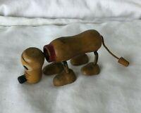 *Vintage 1930's PLUTO THE PUP Wood Toy Walt Disney Enterprises